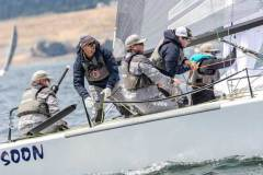 Bruce Ayres' Monsoon USA851 scored second place twice today and is on 3rd position after Day Three - 2018 Melges 24 World Championship - Day 3 - photo © IM24CA / Zerogradinord