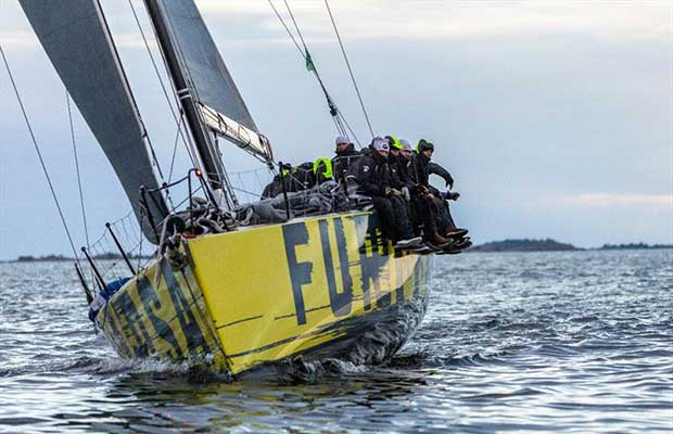 Furiosa passing the finish line in Sandhamn at 04.50 AM. © Henrik Trygg