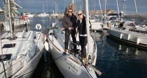 2018 ARC Channel Islands - Leg 1 - James & Helen arriving on Moonshadow - photo © World Cruising