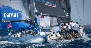 Andrea Lacorte, VITAMINA-CETILAR (sx) and Alessandro Rombelli, STIG (dx) - 2018 Melges 40 Grand Prix - photo © Melges 40 / Barracuda Communication