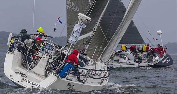 Bill Kneller's Vento Solare crosses behind John Gowell's Temptress at last year's Ida Lewis Distance Race. Fifty one teams have entered the 14th edition of the annual offshore adventure, which starts this Friday at 12:30 p.m. © Stephen Cloutier