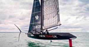 INEOS Team UK sail their surrogate Quant 28 mimicing the AC75 © INEOS Team UK