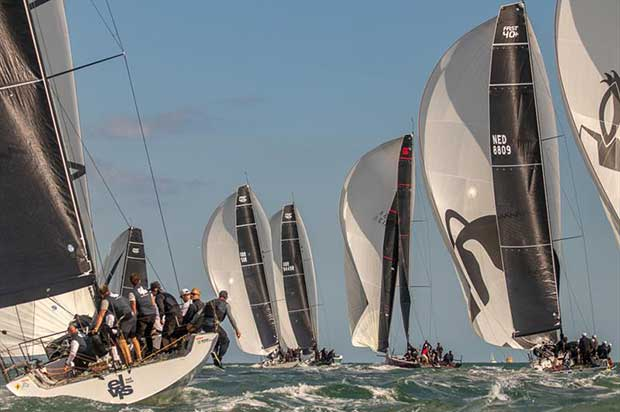 Two races were held on the first day of Wight Shipyard One Ton Cup. © VR Sport Media