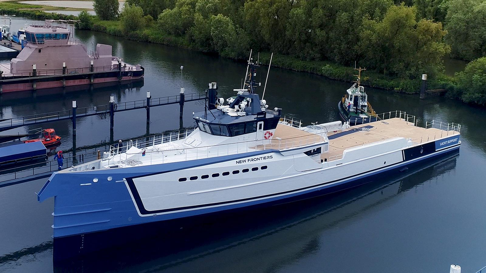 Damen Launches Yacht Support Vessel New Frontiers Yacht