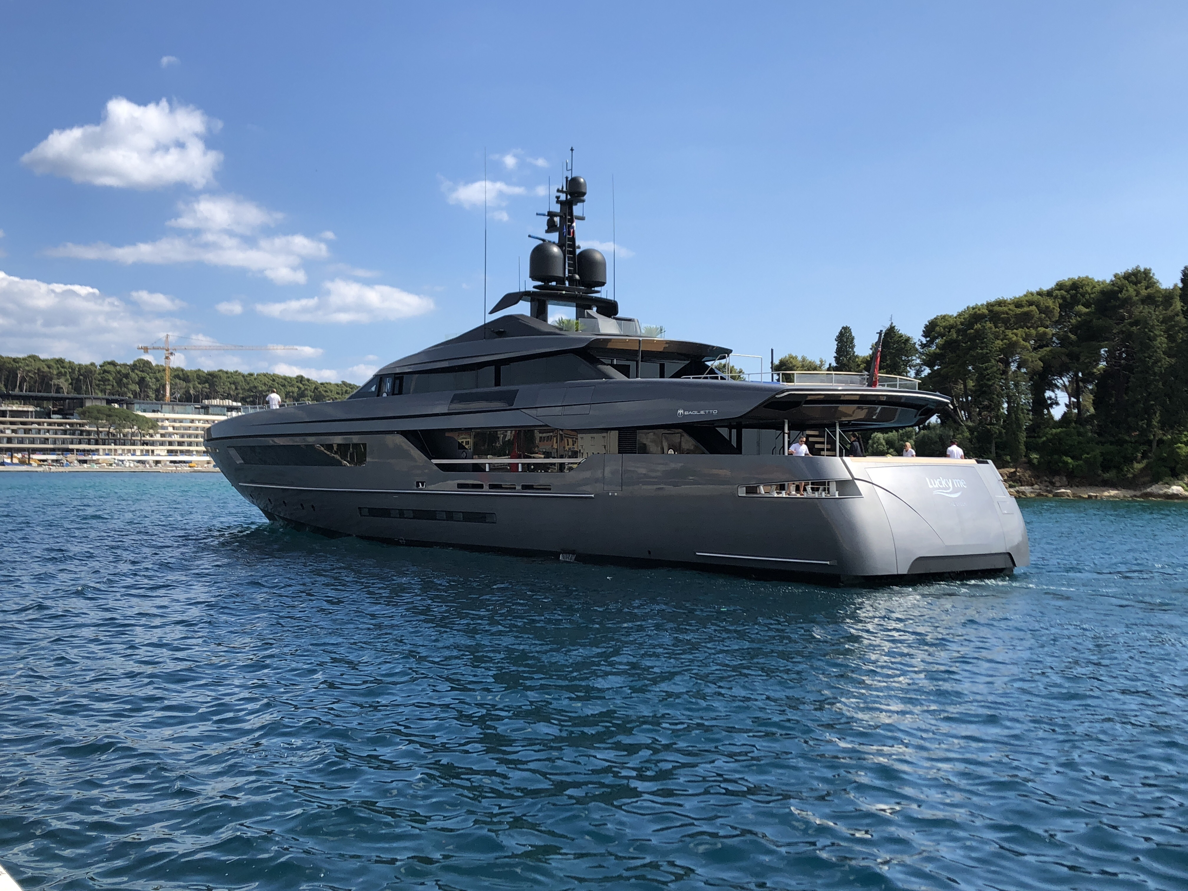 46 Metre Superyacht Lucky Me By Baglietto Spotted In