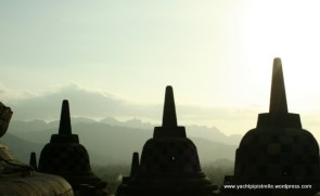 Stupas at Borobodur