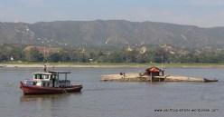 transporting bamboo downstream