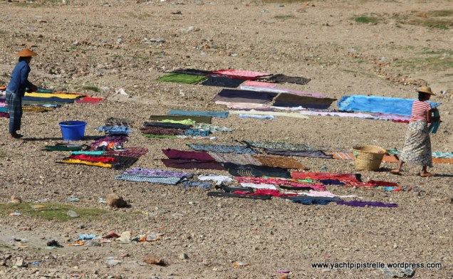 ...garments laid out to dry