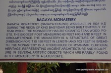 Description of Bagaya Monastery - fortunately Myanmar translated to English!
