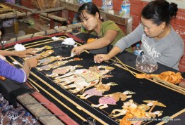 hand embroidering hangings
