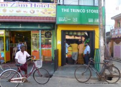 Off licence Sri Lankan style - vendor stands behind bars!