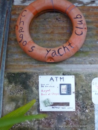 YC signage and ATM courtesy of fellow yachties!
