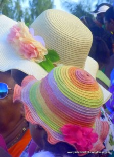 Umbrellas and hats for sun protection