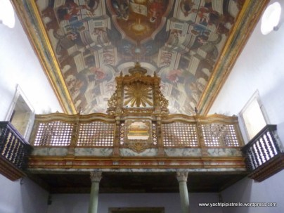 Intricate ceiling painting and gallery