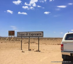 Crossing Capricorn in Namibia