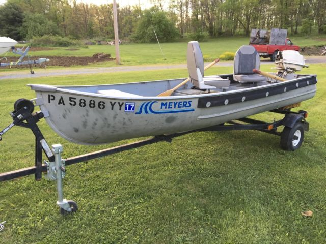 1981 Aluminum Fishing Boat And Trailer For Sale In Beaver