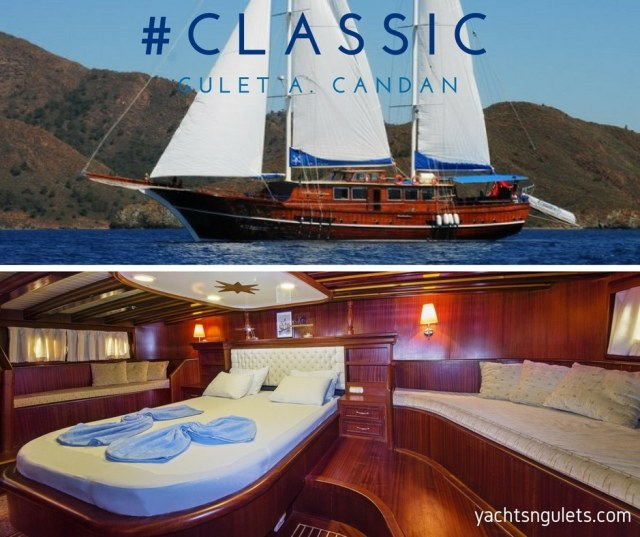 Gulet A.Candan classic wooden charter for large groups in Greece islands