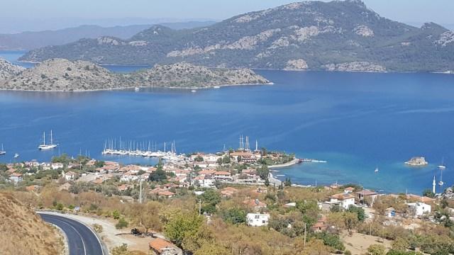 Overlooking Selimiye village Turkey