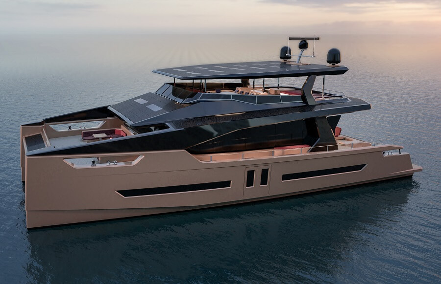 Alva Yachts, Catamarans, Solar, power, electric