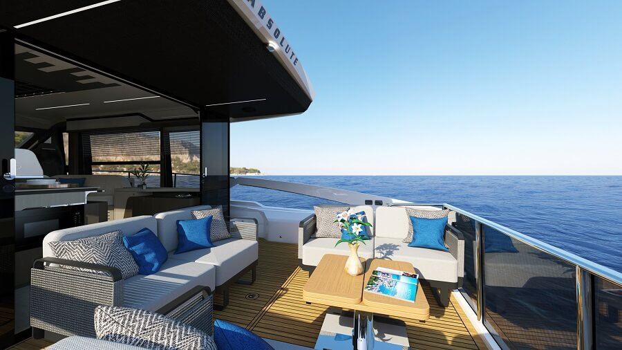 Absolute, Yachts, 48, Coupé, boat, solar, power, Cannes Yachting Festival, show, premiere