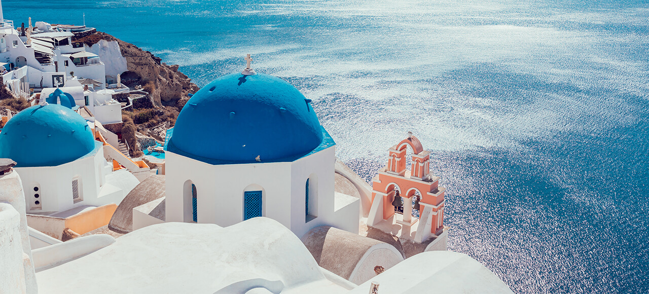 choose santorini island cyclades for your summer vacations in greece and rent a villa from our luxurious collection