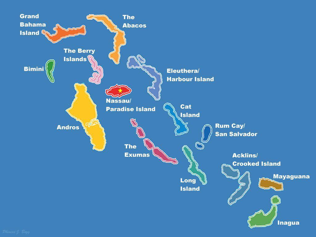 Bahamas Basic Map