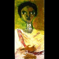 """Emama, Acrylic on canvas, 24""""x48"""" 2006"""