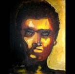 "Loner (series), Acrylic on canvas, 10""x14"" 2010"