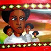 "Mamma Africa: Acrylic on Canvas: 16""x12"" 2010"