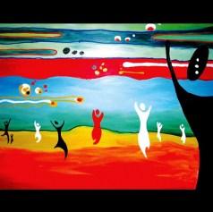 "Recession: Acrylic on Canvas: 60""x30"" 2006"