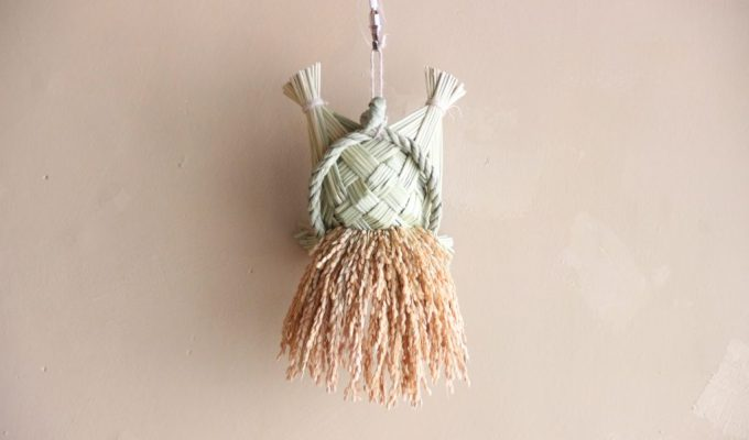 Straw craft work
