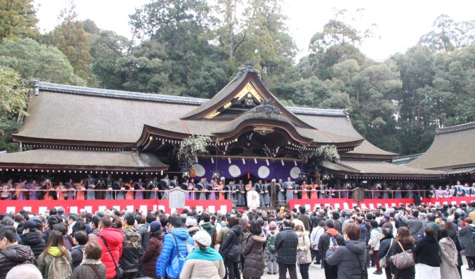 [節分の日]奈良 大神神社 節分祭