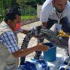 Rescatan cocodrilo en Bacalar