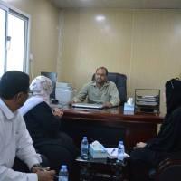 مدير أمن عدن يلقتي مديرة مكتب مفوضية شؤون اللاجئين في عدن