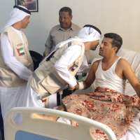 """الهلال الإماراتي يطمئن على صحة المصابين الإعلاميين """"الجنيد والنقيب"""""""