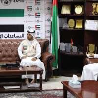 ممثل الهلال الأحمر الإماراتي يلتقي مفوضية شؤون اللاجئين بعدن