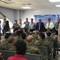 الإدارة العامة لمطار عدن الدولي تختتم دورة الوعي الأمني لإمن الطيران لافراد كتيبة حماية المطار