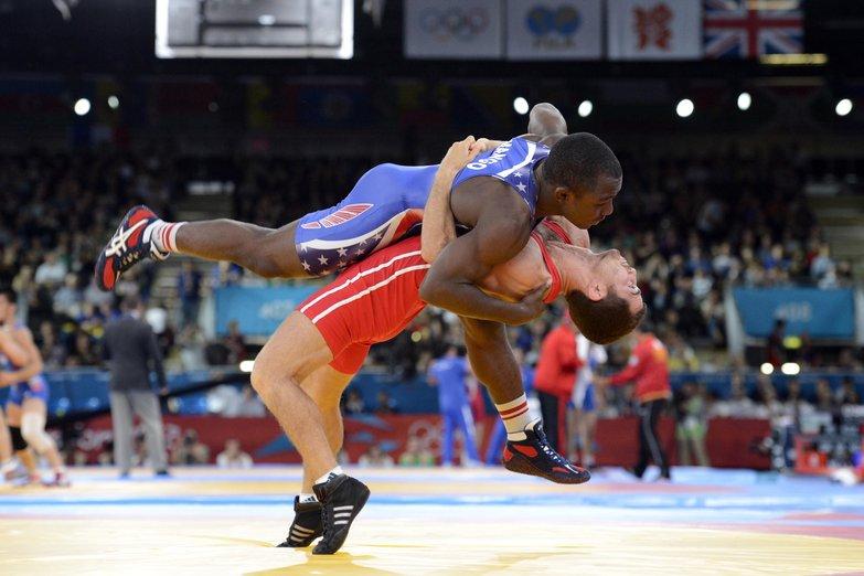 Olympics: Wrestling-Men's Greco-Roman 55kg 1/8 Finals