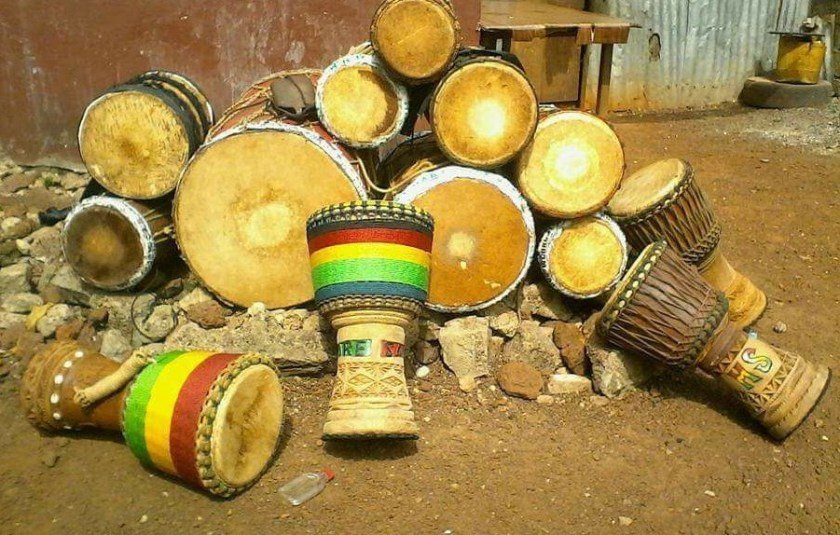 djembe and dundun drum family
