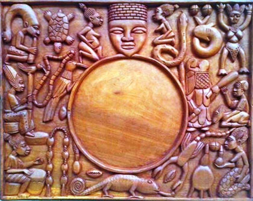Unique Tray of Ifa where Iyerosun is applied