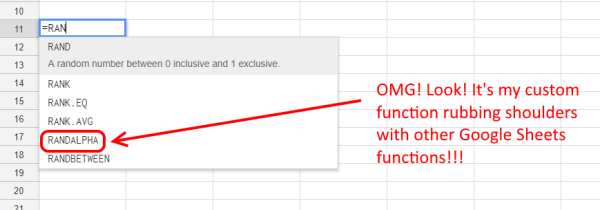 Custom Functions Are Indelible - Google Sheets
