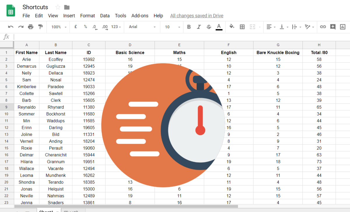 google sheets efficiency
