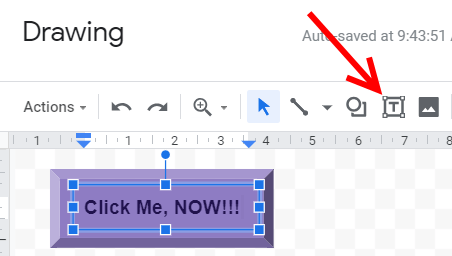 Google Sheets bevel shape 5 button