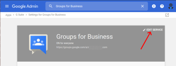 Gsuite Groups for business edit service