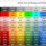 Google Apps Script: Hexadecimal Color Codes for Google Docs, Sheets and Slides Standard Palette