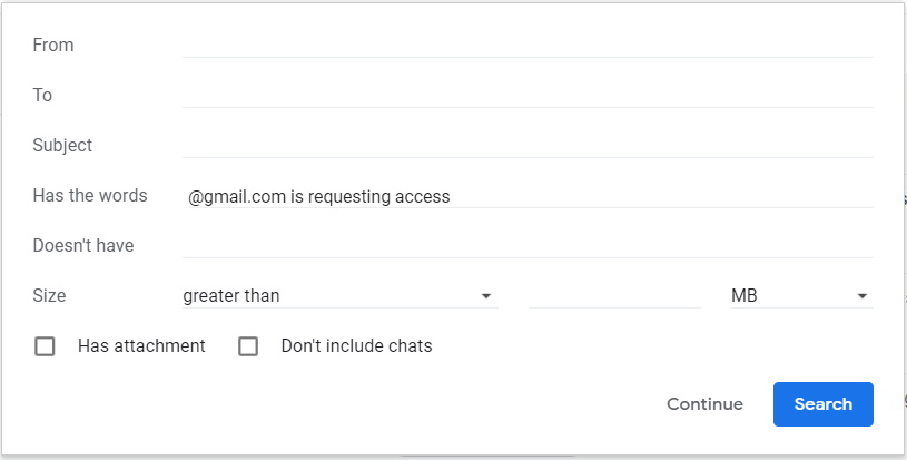 Gmail filter restrictions