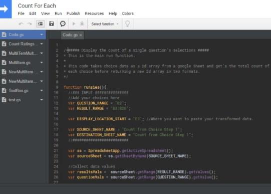 Google Apps Script Editor Color Change
