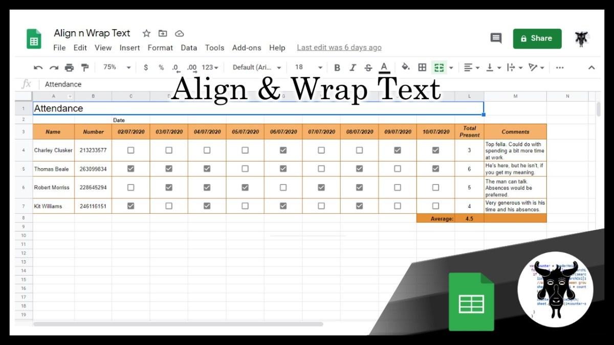 Google Sheets Shorts: Align and Wrap Text (2)