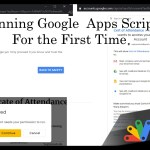 Running Google Apps Script for the first time