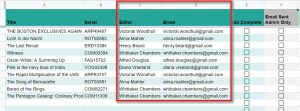 Required Data Columns for Google Sheet Add remove editors automation